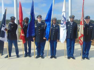 Color Guard for Opening day of VA Cemetary